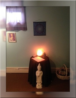 Buddha statue at Genesis Spiritual Healing & Metaphysical Center in New Jersey.