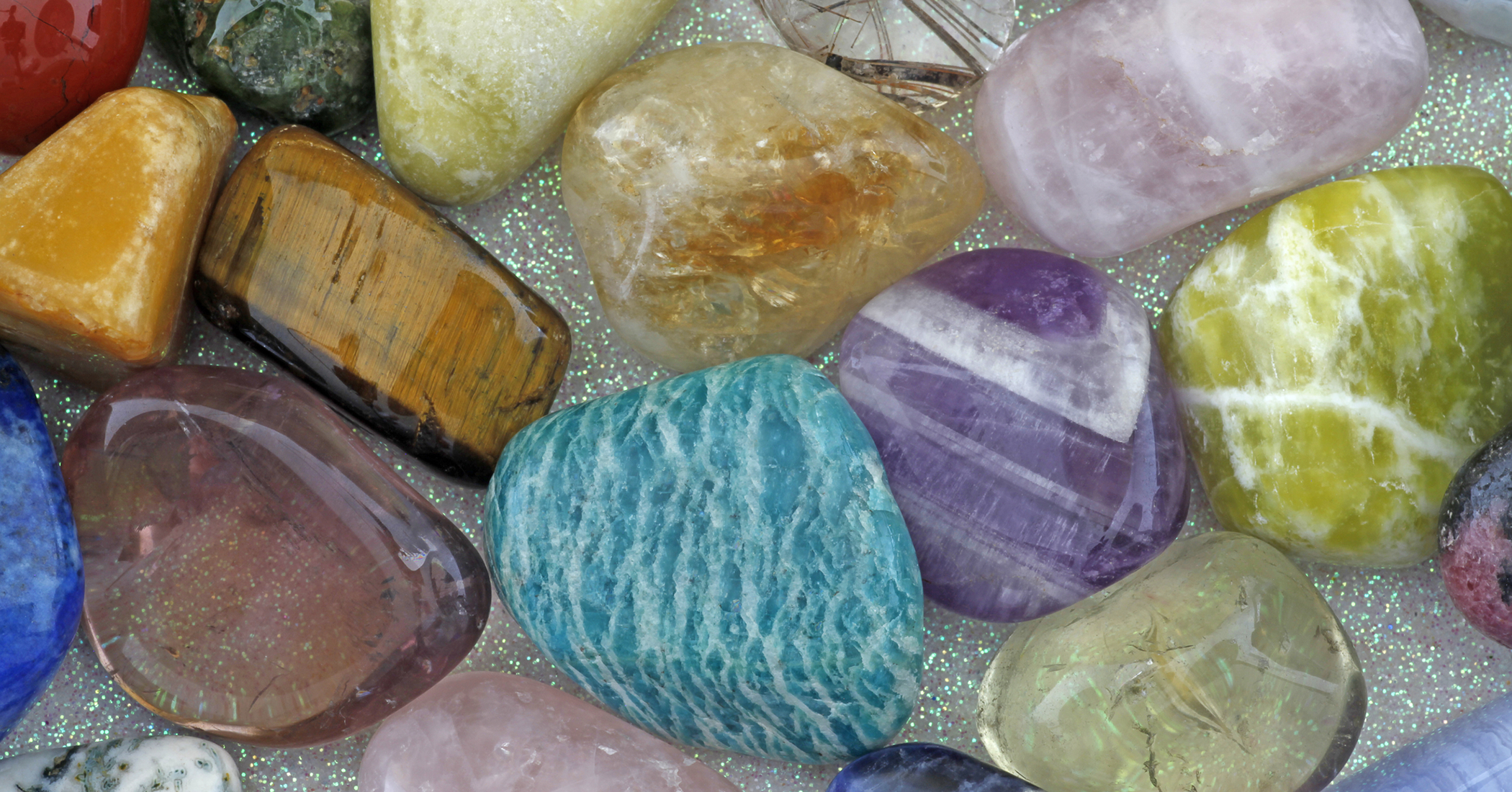 Gemstone Wands With Crystal Ball And Carrying Pouch Faye Weber